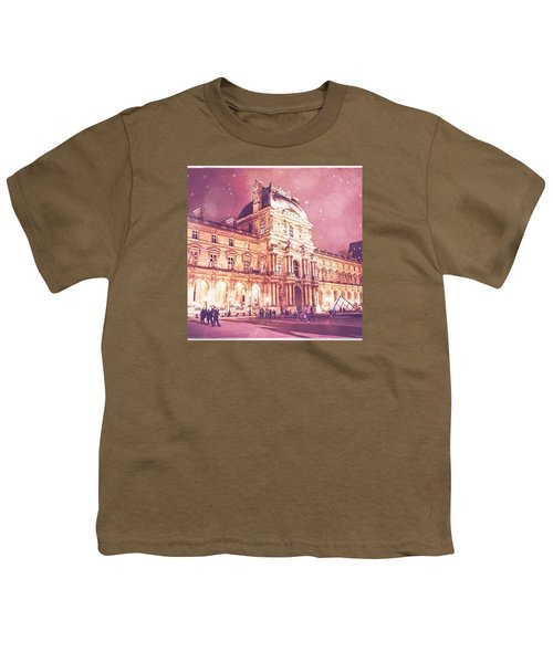 Palais Du Louvre En Rose Youth T-Shirt by Aurella FollowMyFrench
