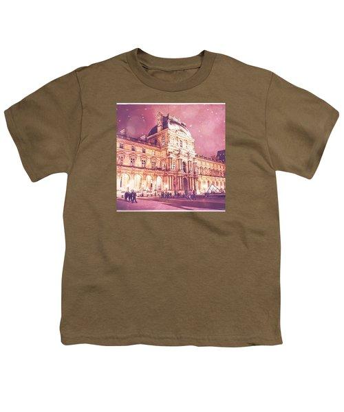 Palais Du Louvre En Rose Youth T-Shirt