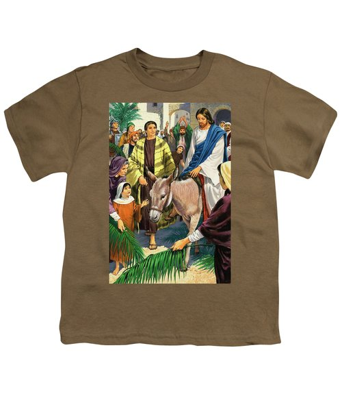 Palm Sunday Youth T-Shirt by Clive Uptton