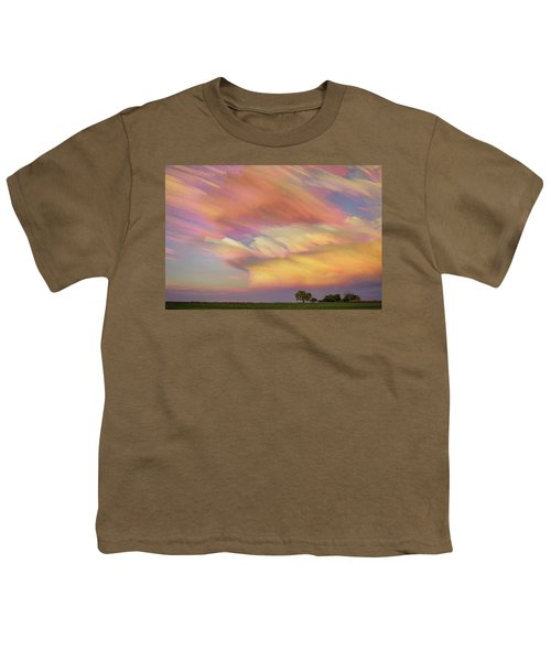 Youth T-Shirt featuring the photograph Pastel Painted Big Country Sky by James BO Insogna