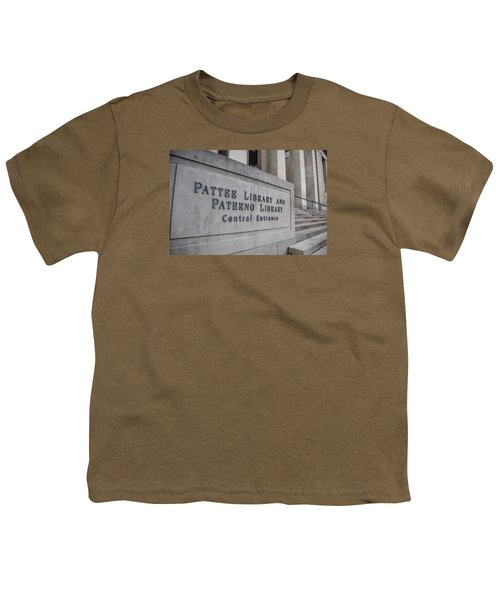 Paterno Library At Penn State  Youth T-Shirt by John McGraw