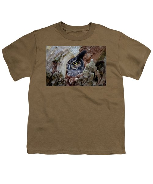Peek A Boo Owl Youth T-Shirt