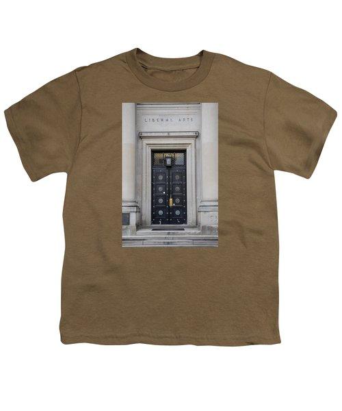 Penn State University Liberal Arts Door  Youth T-Shirt by John McGraw