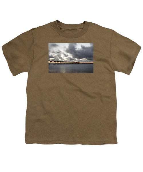 Pier In Misty Waters Youth T-Shirt