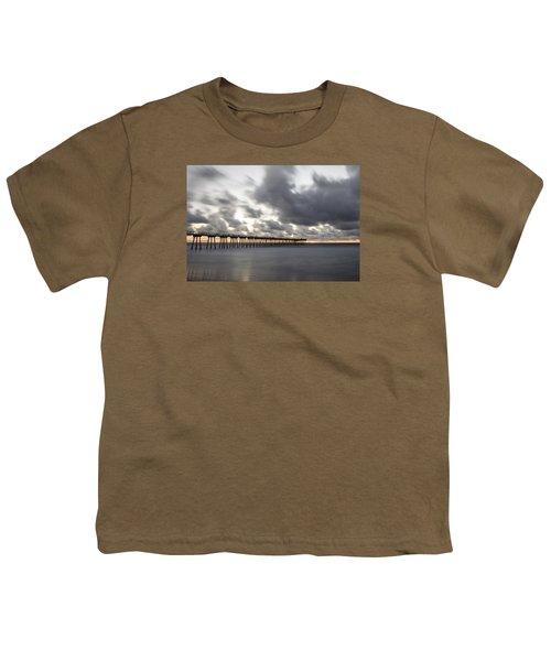 Pier In Misty Waters Youth T-Shirt