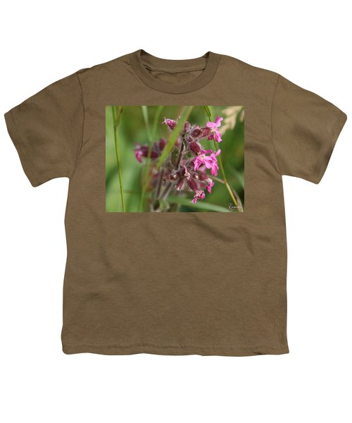 Pink Campion In August Youth T-Shirt