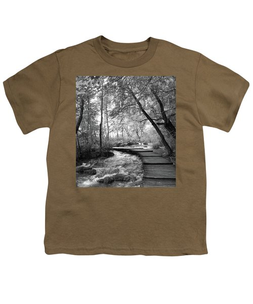 Plitvice In Black And White Youth T-Shirt