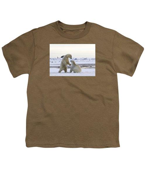 Polar Bear Play-fighting Youth T-Shirt