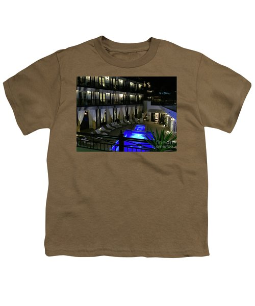 Poolside At The Pearl Youth T-Shirt by Megan Cohen