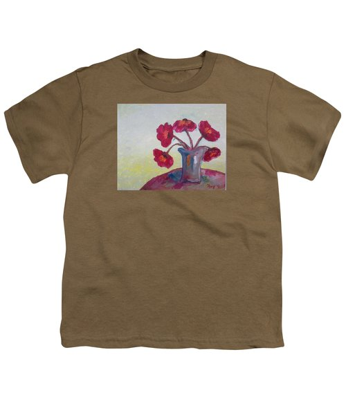 Poppies In A Vase Youth T-Shirt