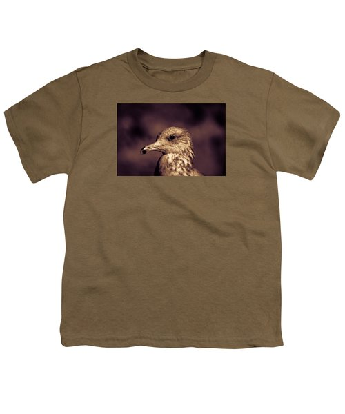 Youth T-Shirt featuring the photograph Portrait Of A Gull by Lora Lee Chapman