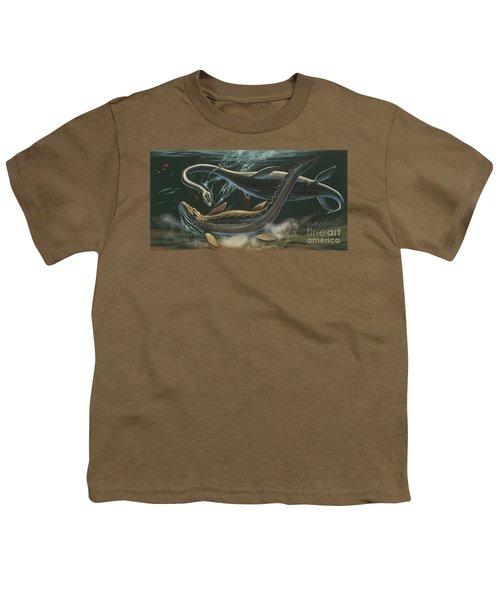 Prehistoric Marine Animals, Underwater View Youth T-Shirt by American School