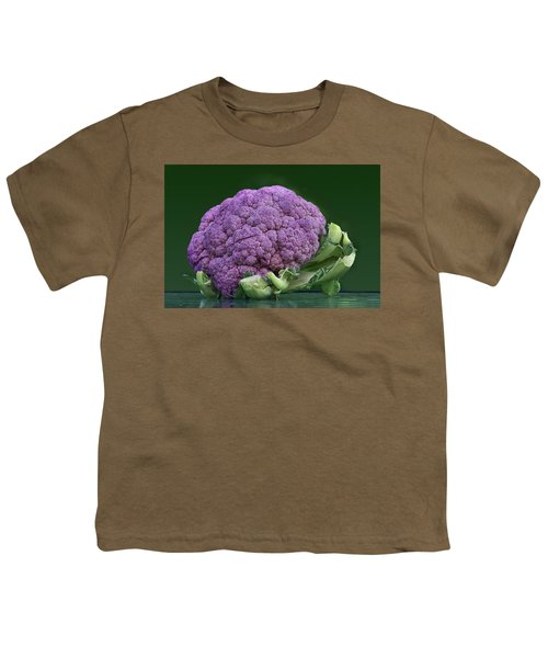 Purple Cauliflower Youth T-Shirt by Nikolyn McDonald