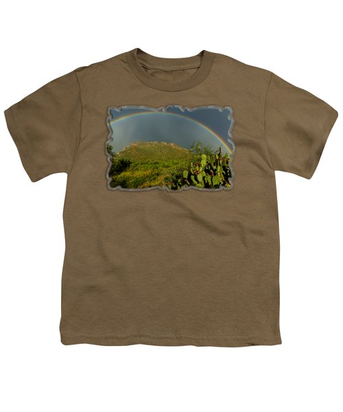 Pusch Ridge Rainbow H38 Youth T-Shirt by Mark Myhaver