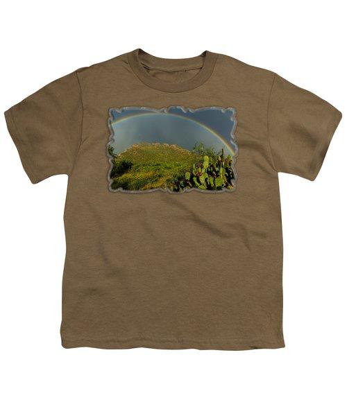 Pusch Ridge Rainbow H38 Youth T-Shirt by Mark Myhaver