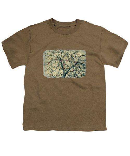 Red Apples In Empty Garden Youth T-Shirt by Konstantin Sevostyanov