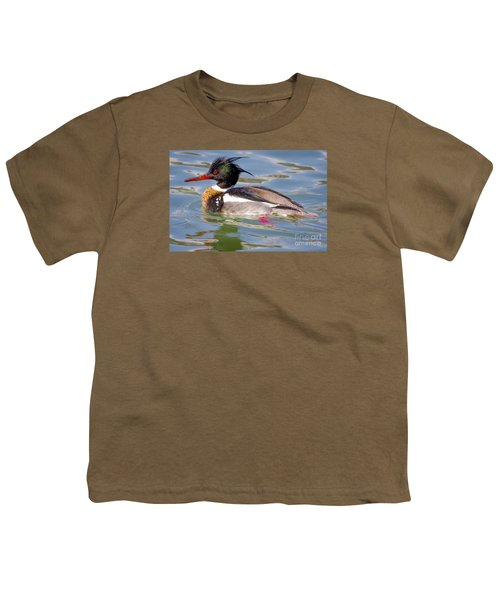 Red-breasted Merganser Youth T-Shirt by Ricky L Jones