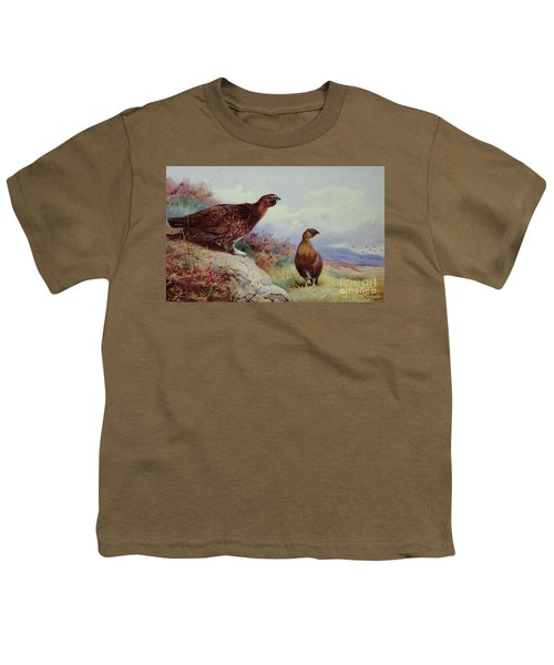 Red Grouse On The Moor, 1917 Youth T-Shirt by Archibald Thorburn