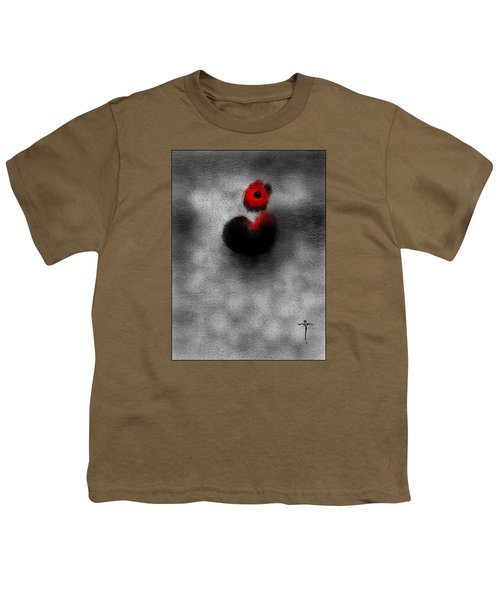 Youth T-Shirt featuring the digital art Red Mouse by James Lanigan Thompson MFA
