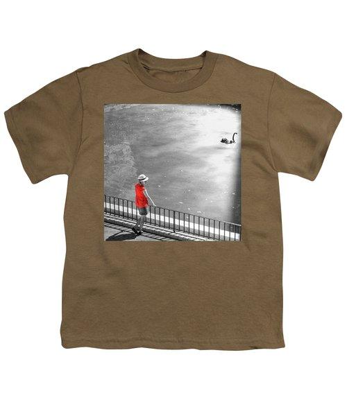 Red Shirt, Black Swanla Seu, Palma De Youth T-Shirt by John Edwards