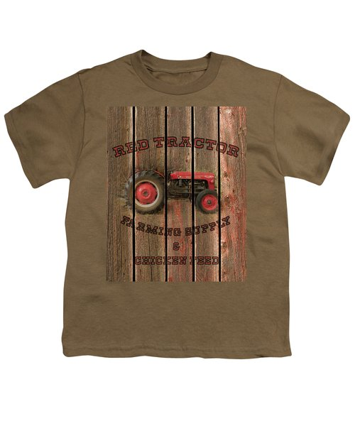 Red Tractor Farming Supply Youth T-Shirt