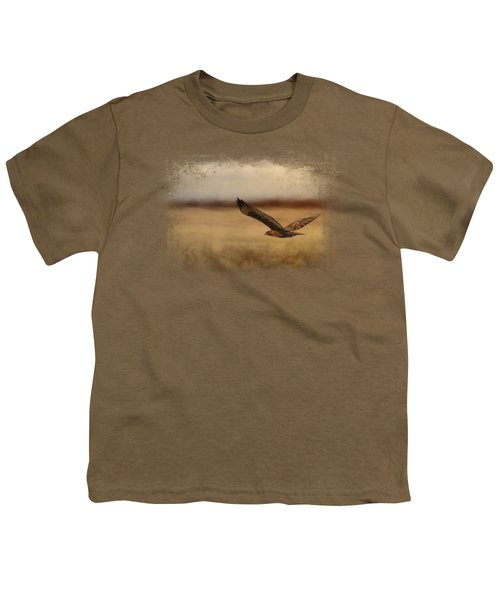 Redtail In The Field Youth T-Shirt by Jai Johnson