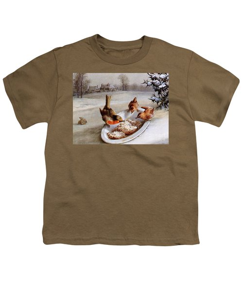 Robins And Wrens  Winter Breakfast Youth T-Shirt