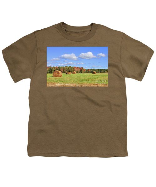 Rolls Of Hay On A Beautiful Day Youth T-Shirt