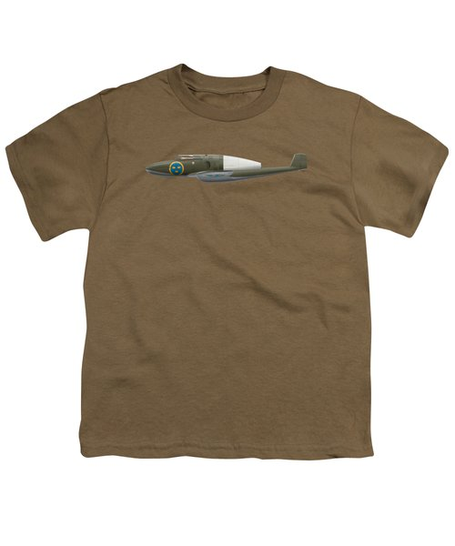 Saab J 21 R - Prototype -  Side Profile View Youth T-Shirt