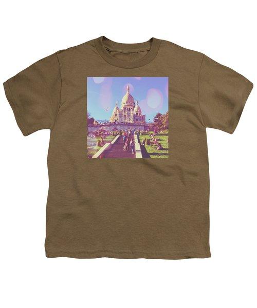 Sacre-coeur In Summer Youth T-Shirt by Aurella FollowMyFrench