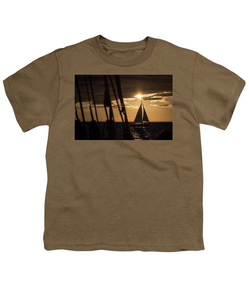 Sailboat On The Horizon Youth T-Shirt