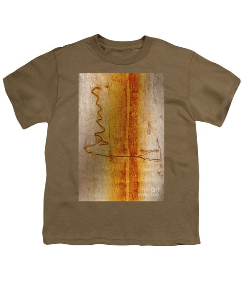 Youth T-Shirt featuring the photograph Scribbly Gum Bark by Werner Padarin