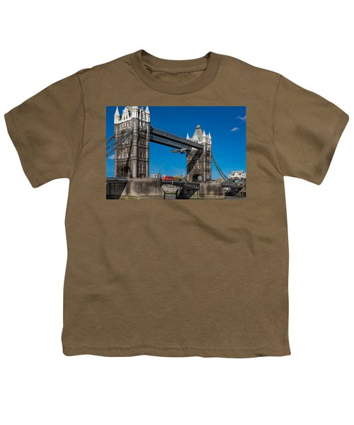 Youth T-Shirt featuring the photograph Seven Seconds - The Tower Bridge Hawker Hunter Incident  by Gary Eason