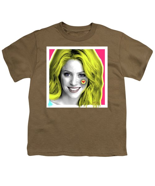 Shakira, Pop Art, Pop Art, Portrait, Contemporary Art On Canvas, Famous Celebrities Youth T-Shirt by Dr Eight Love
