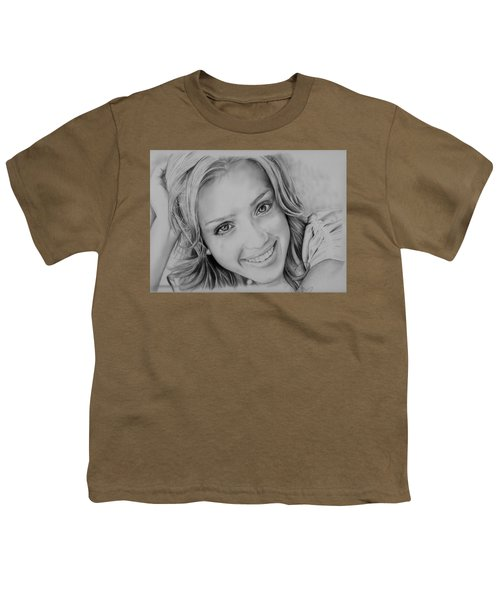 She Smiles Youth T-Shirt by Jessica Perkins