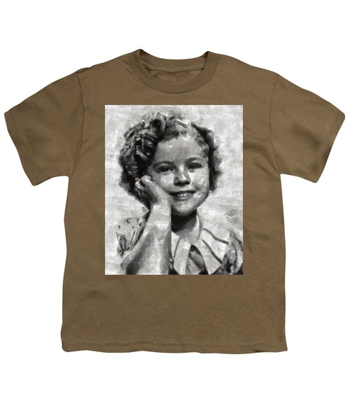 Shirley Temple By Mary Bassett Youth T-Shirt by Mary Bassett