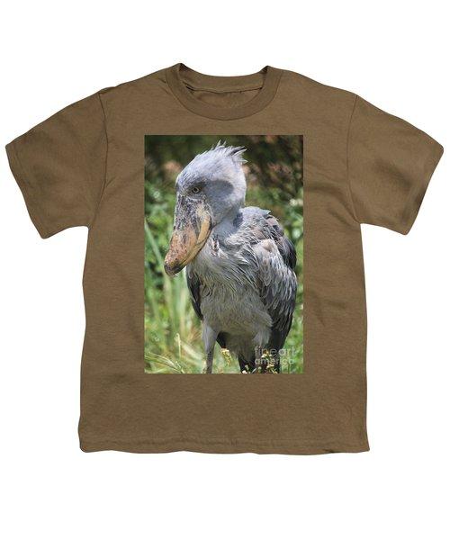 Shoebill Stork Youth T-Shirt by Carol Groenen