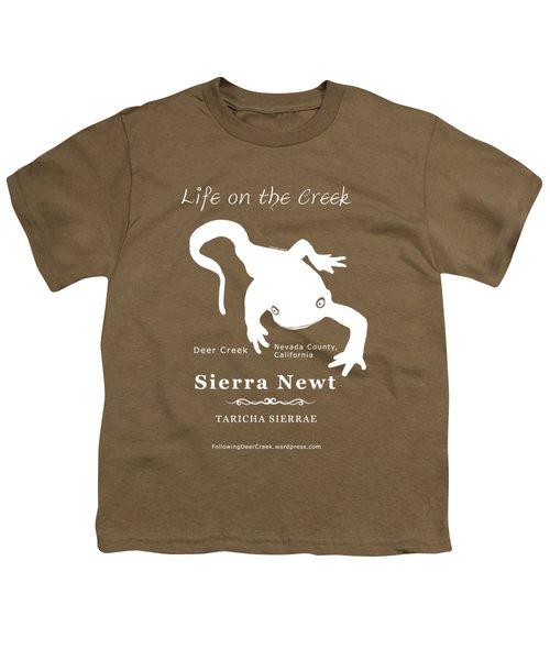 Sierra Newt - White Youth T-Shirt by Lisa Redfern