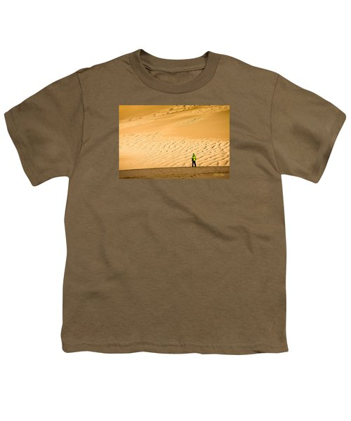 Youth T-Shirt featuring the photograph Solitude In The Dunes by Rikk Flohr
