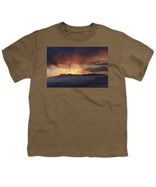 Southwest Colorado Sunset Youth T-Shirt by John Zeising