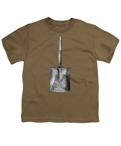 Square Point Shovel Down 3 Youth T-Shirt by YoPedro