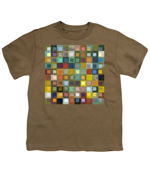 Youth T-Shirt featuring the digital art Squares In Squares Five by Michelle Calkins