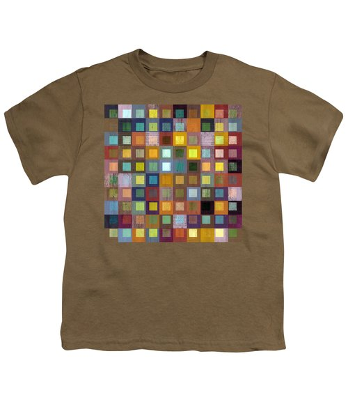 Squares In Squares One Youth T-Shirt by Michelle Calkins