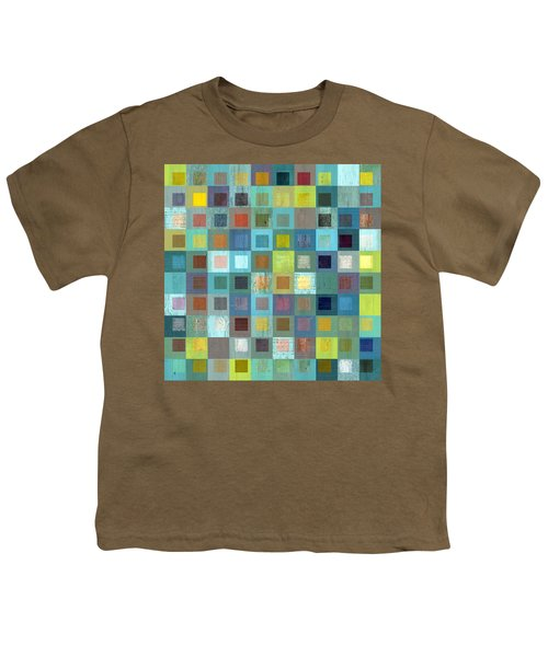 Youth T-Shirt featuring the digital art Squares In Squares Two by Michelle Calkins