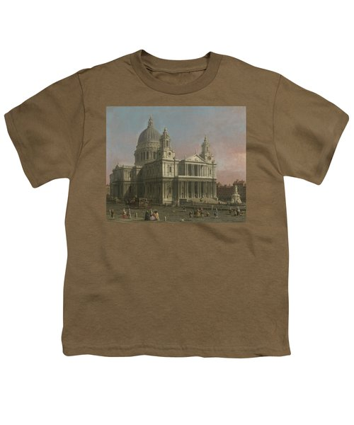 St. Paul's Cathedral Youth T-Shirt by Giovanni Antonio Canaletto