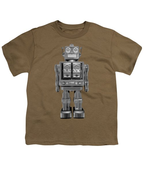 Star Strider Robot Red Bw Youth T-Shirt by YoPedro