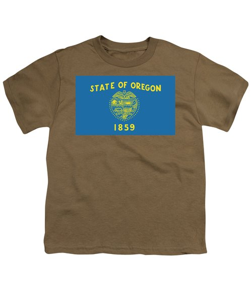 State Flag Of Oregon Youth T-Shirt