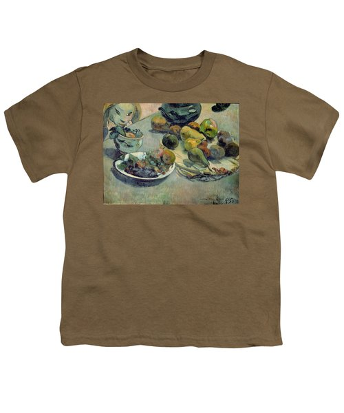 Still Life With Fruit Youth T-Shirt by Paul Gauguin