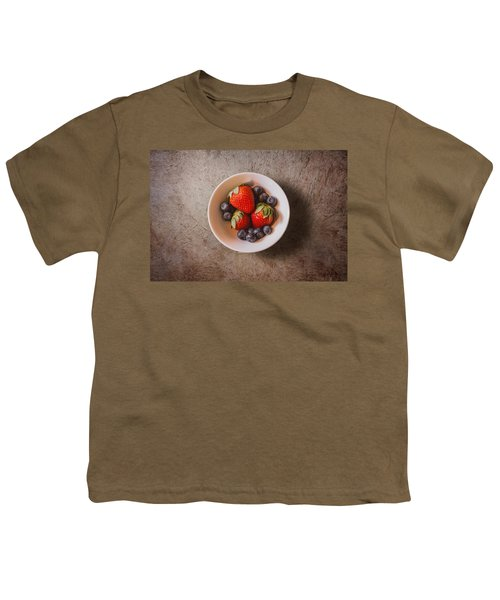 Strawberries And Blueberries Youth T-Shirt by Scott Norris