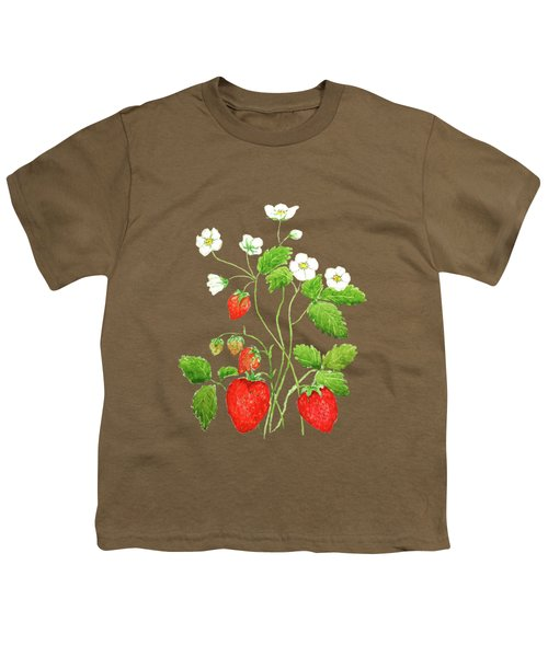 Strawberry  Youth T-Shirt by Color Color